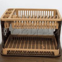 ПВЦ Сушилник за чинии и прибори 2 етажа