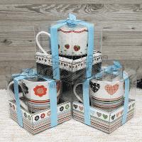 Порцеланова чаша в кутия за подарък/чаши за топли напитки