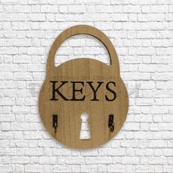 """Дървена закачалка за ключове """"Keys""""/поставка за ключове"""