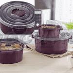 Комплект 3бр. кутии с капак/кутия за микровълнова фурна