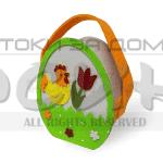 Великденска кошничка за яйца от текстил