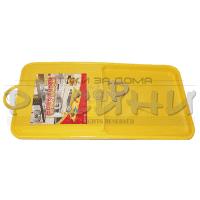 ПВЦ дъска за рязане с отделение за продуктите 38x21,5см.