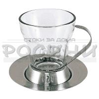 Сребриста,ретро чаша за топли напитки 120мл.