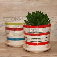 Керамична саксия 10см./саксии за цветя от керамика