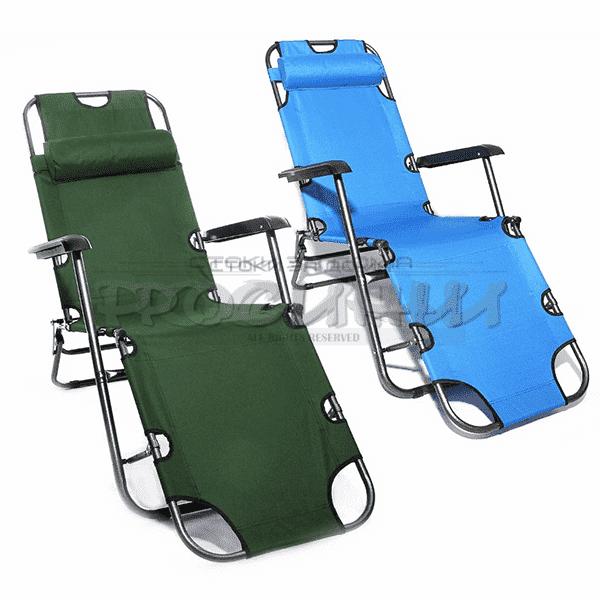 12eae63afa7 Сгъваем шезлонг/функционален стол за плаж и градина