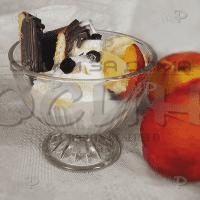 Стъклени чаши за мелба,сладолед 3бр.