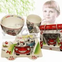 "Детски комплект за хранене ""Smile car""/сервиз за детска храна"