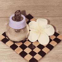 Стъклена захарница с дозатор/буркан-захарничка