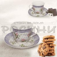 "Сервиз чаши за кафе и чай ""Flower""/порцеланови сервизи"