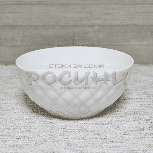 Бяла,порцеланова купа за супи/ястия 15см.