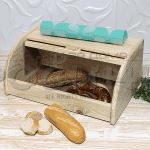 Дървена кутия за хляб 41x28см./кутии за съхранение