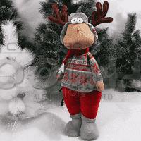 Коледен,плюшен Eлен 62см./плюшена играчка за Коледа
