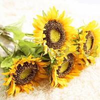 Декоративен стрък Слънчоглед 77см./изкуствени цветя за декорация