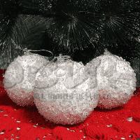 Коледни топки за елха в бяло/украса за елха