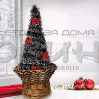 Коледна елха с панделки в кошница/изкуствени,коледни елхи