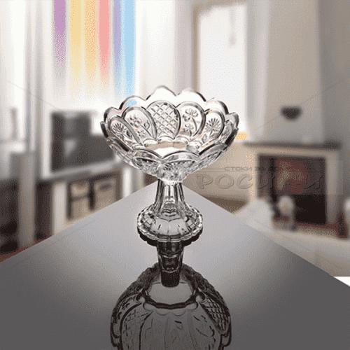 Стъклена фруктиера на столче 660702W