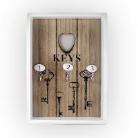 Кутия за ключове с три закачалки KEYS